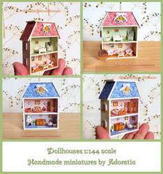 Dollhouses 1:144 scale