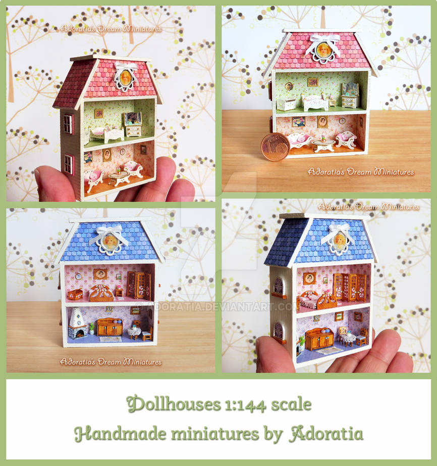 Dollhouses 1:144 scale by Adoratia