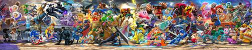 Super Smash Bros Ultimate artwork full by Leadingdemon0
