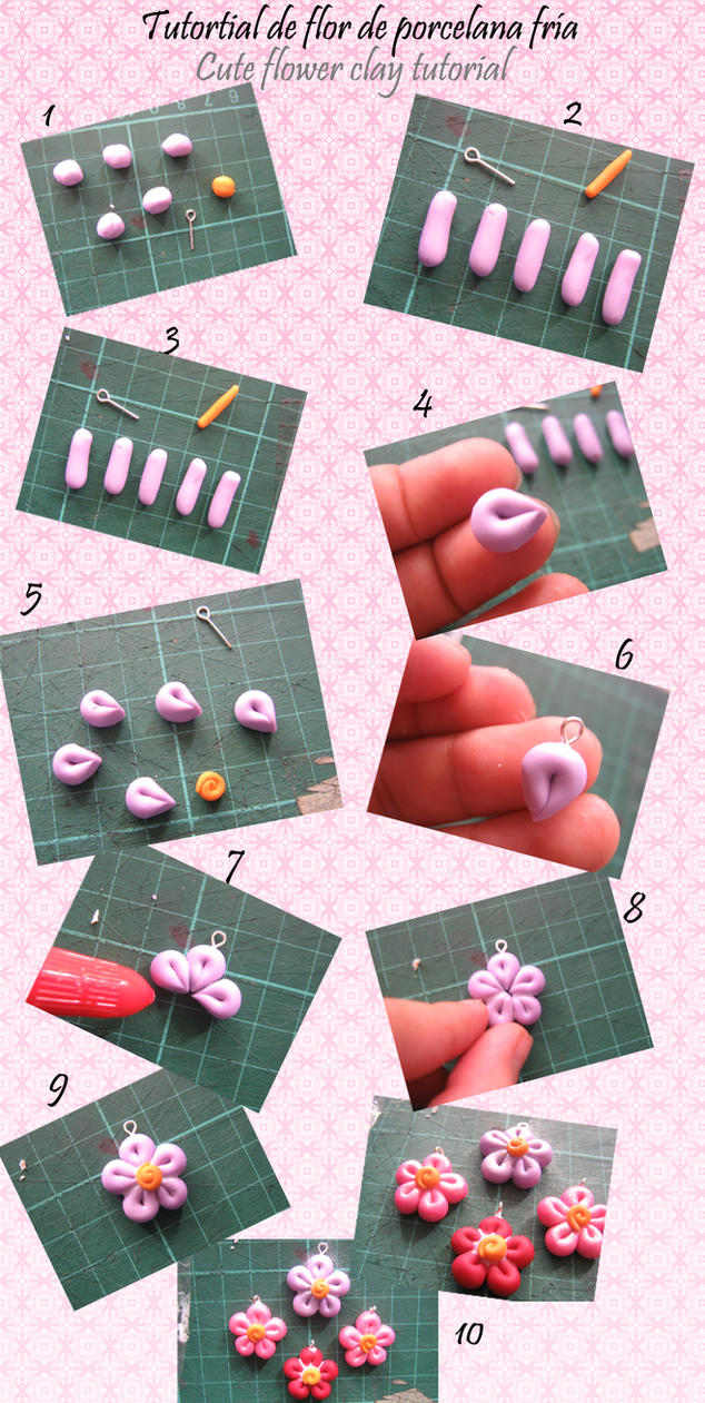 Flower Polymer Clay Tutorial by beatus-vir