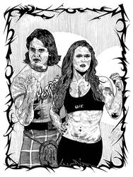 ROWDY: Roddy Piper and Ronda Rowsey by CEZacherl