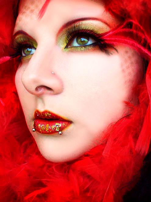 Makeup Ideas fire makeup : fire bird by itashleys-makeup on DeviantArt