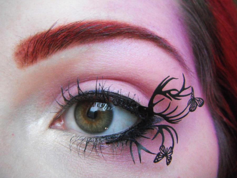 Deer and Butterflies by itashleys-makeup