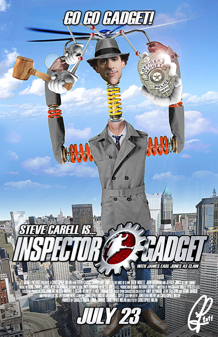 Inspector Gadget Mock Poster by ChrisLeroux