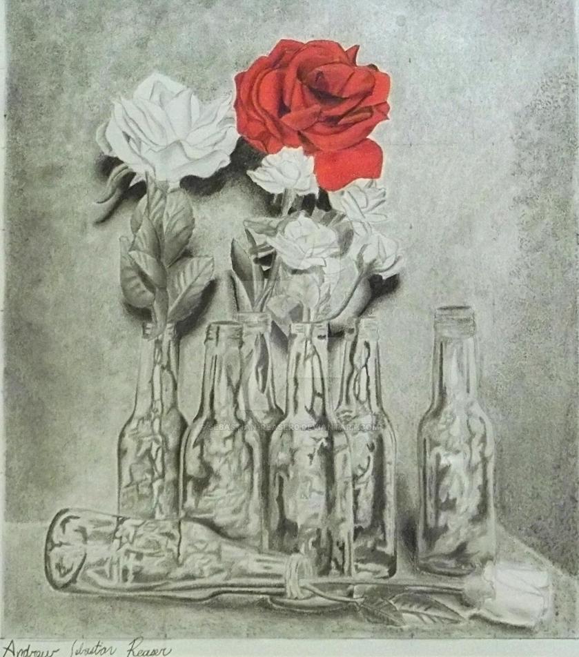 Black White And Red Rose By Sebastian Reaser0 On Deviantart