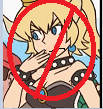 Anti Bowsette stamp by Kitty-cat-Fox