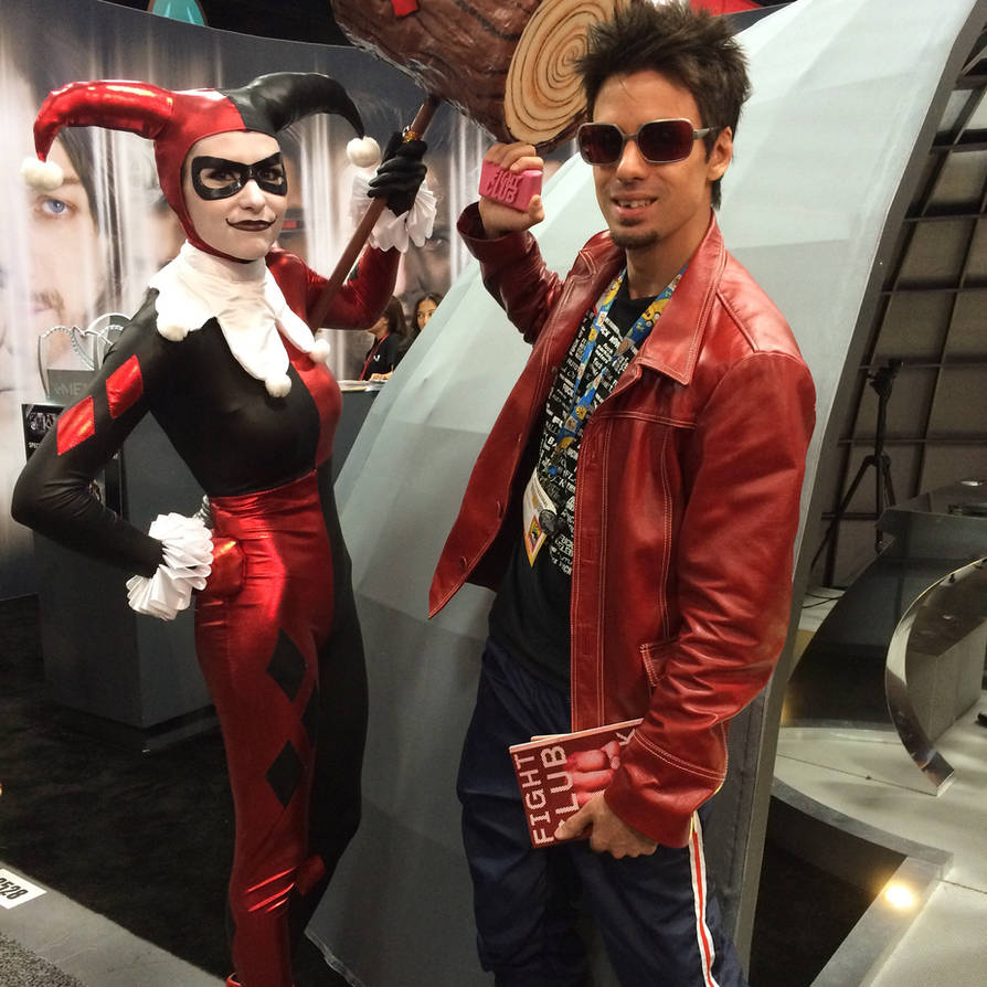 Harley Quinn And Tyler Durden At Sdcc 2014 By Xd00rx On Deviantart