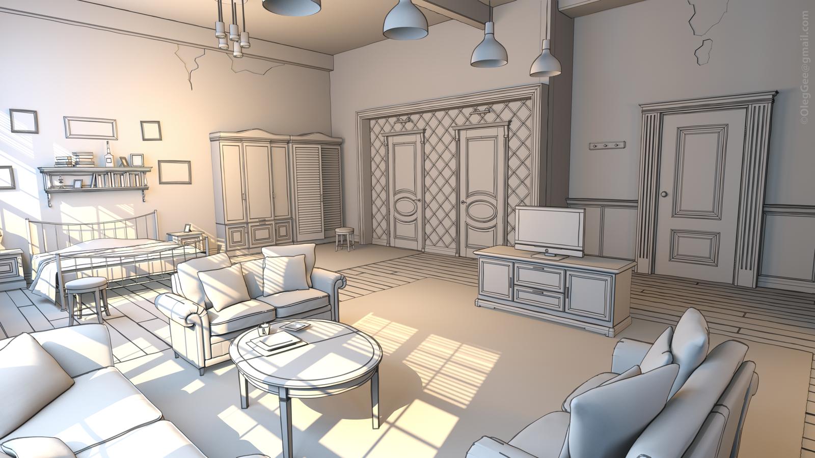 Toon Room white shader4 by z-Gen