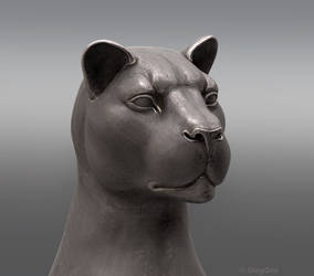 Lion statue WIP 01