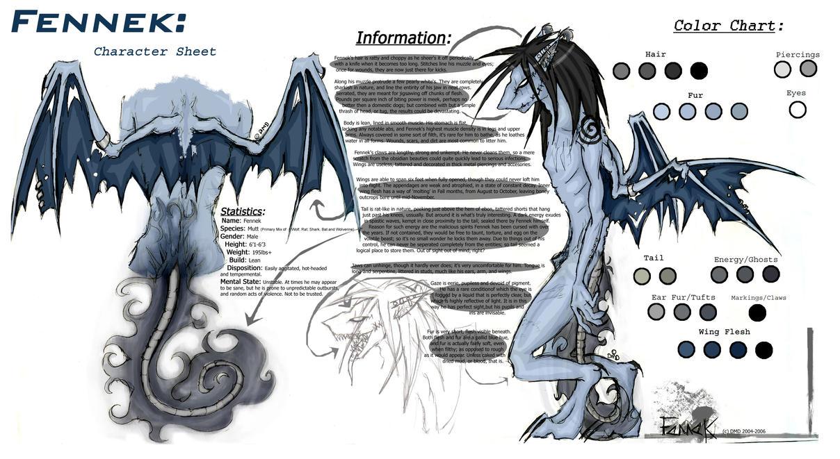 Fennek: Character Sheet by Masochi