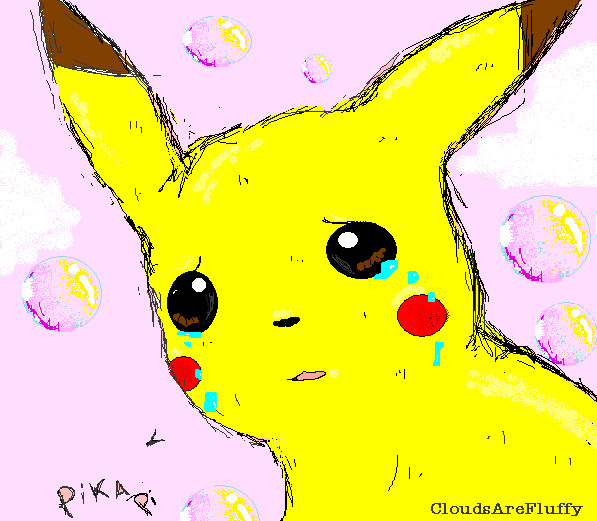 Pikachu crying drawing - photo#10