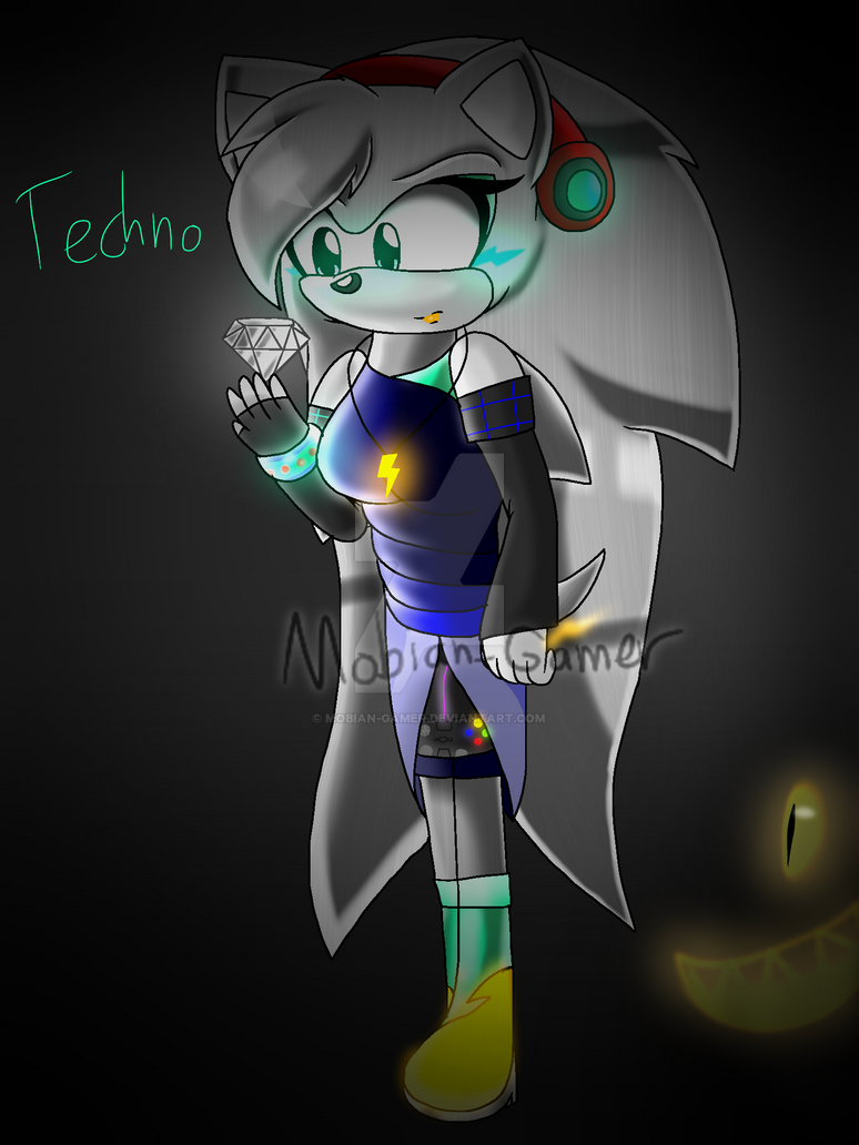 Techno found the White Chaos Emerald by Mobian-Gamer
