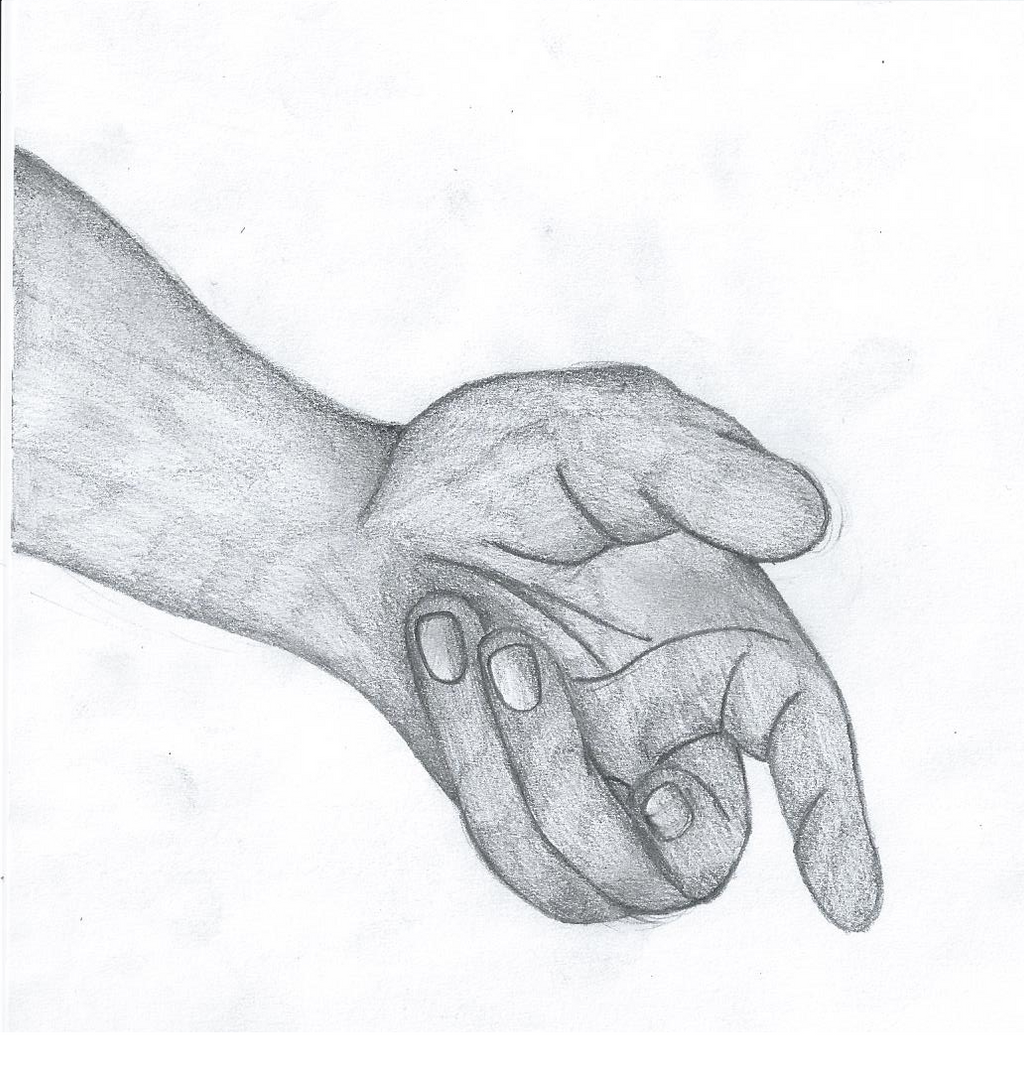 how to draw outstretched hands