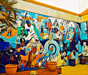 People Of The Southwest Mural by SerenAletheia
