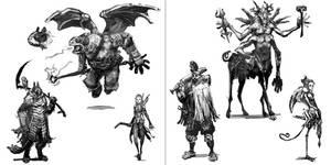 Fantasy Heroes Concept by kian02
