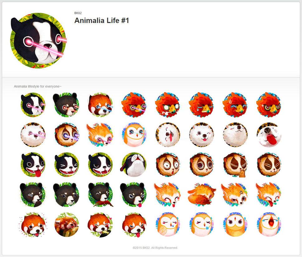 Animalia Life #1 LINE sticker by kian02