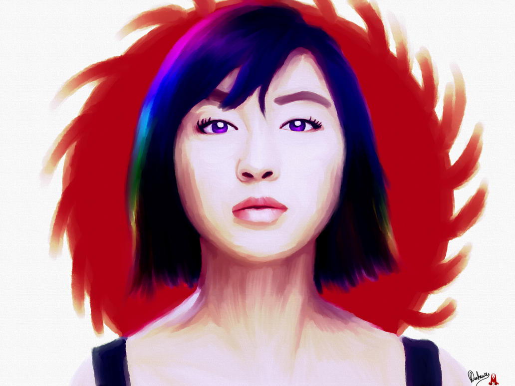 Colored Hair Sunrise by Shinzoheddo