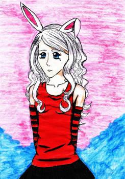 Black-Red Bunny Girl