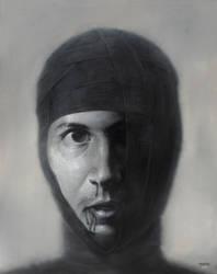 Self portrait -Photorealism by bbijann