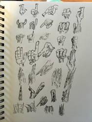 Style Development - Cartoon Hand Practice by DrewCopenhaver