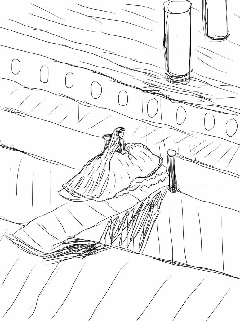 Josephine boards a steamship (Work in Progress) by planxtafroggie