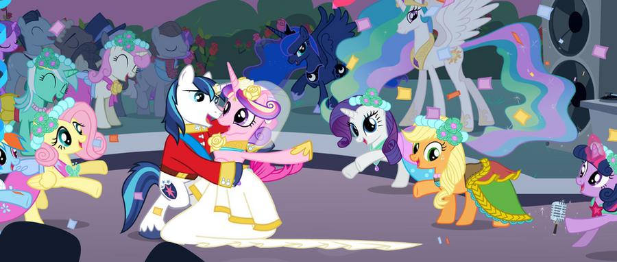 Princess Cadence and Shining Armor wallpaper by x-Princess ...