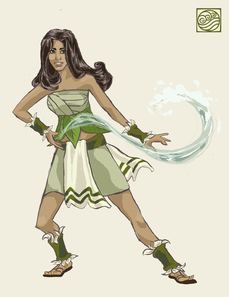 Rachel as a Swampbender by Kiyae