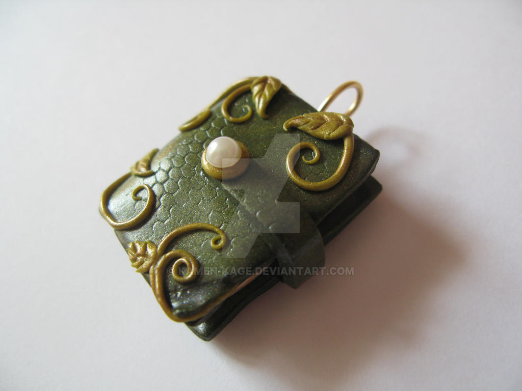 Fimo green old book pendant leaves and pearl by kamen kage on fimo green old book pendant leaves and pearl by kamen kage mozeypictures Gallery