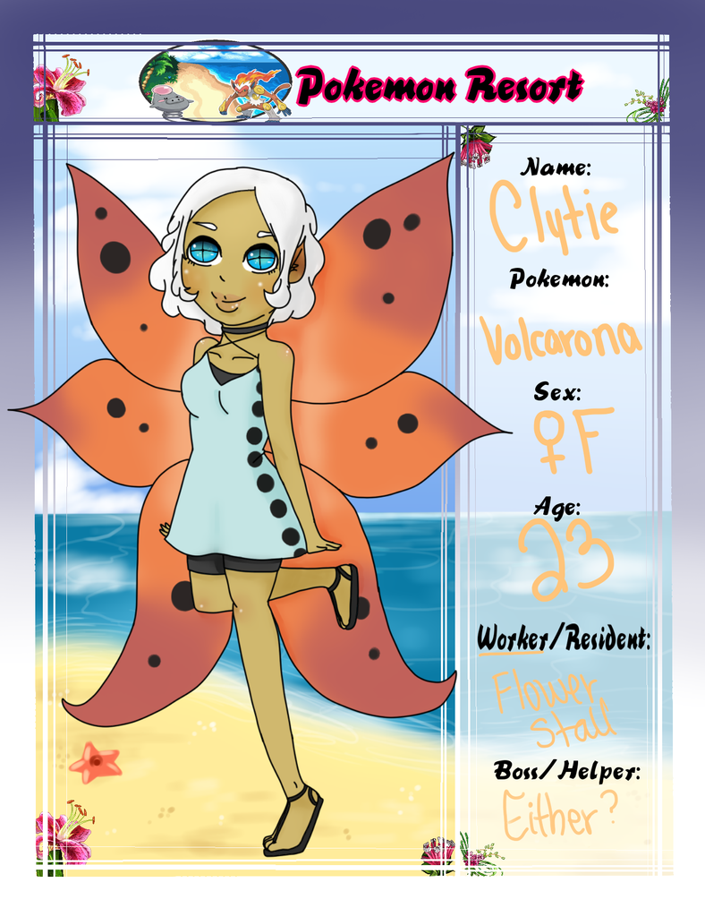 Pokemon Resort - Clytie the Volcarona by rayna-san