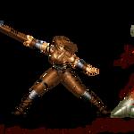 Blade: Zoe vs Lesser Demon by Alejandro-Mikros