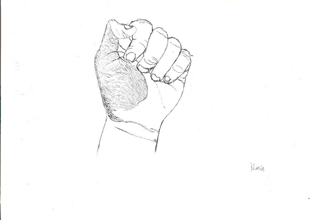 India ink hand by AnthropomorPhillie