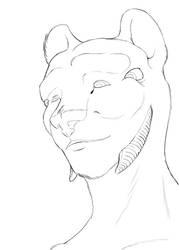 Friendly lion [LINE ART]