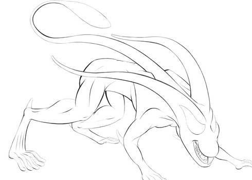 Bunny scream [LINE-ART]