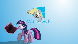 Derpy comes to W8 Wallpaper