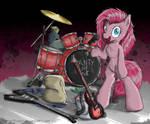 Pinkamena's Band by FlutterThrash
