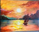 Practice #2 - Orange Eye Sunset