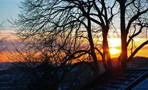 Mid-February sunset