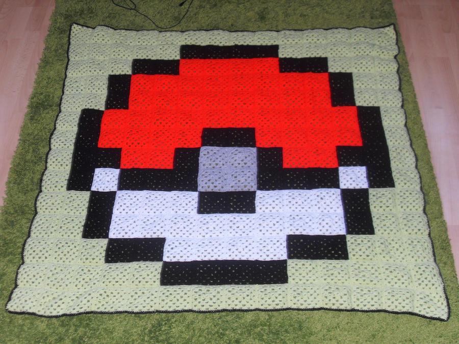 Pokeball Crochet Rug By Gaboob23 On Deviantart