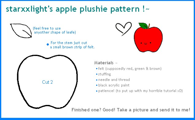 Apple Plushie Pattern By Starxxlight On Deviantart