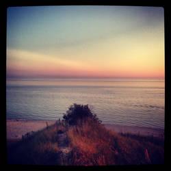 Sand dunes at sunset by nerdygirl82