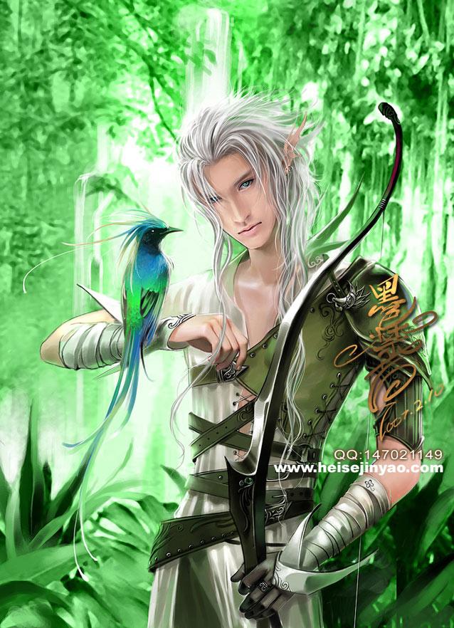 Curiosité elfique Envoy_in_the_forest__by_heise