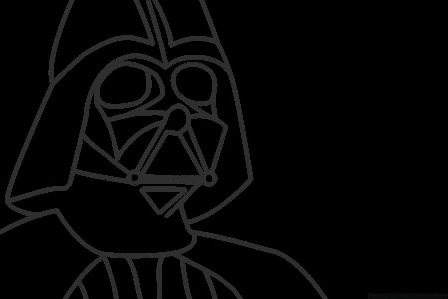Darth Vader Mask Drawing Darth Vader Lineart by...