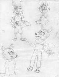 Foxy Sketches by nega108