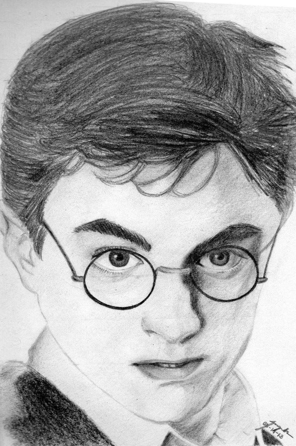 Harry Potter Sketch by ButterflyInMaze on DeviantArt