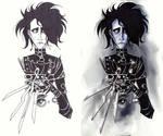 Edward Scissorhands w lines