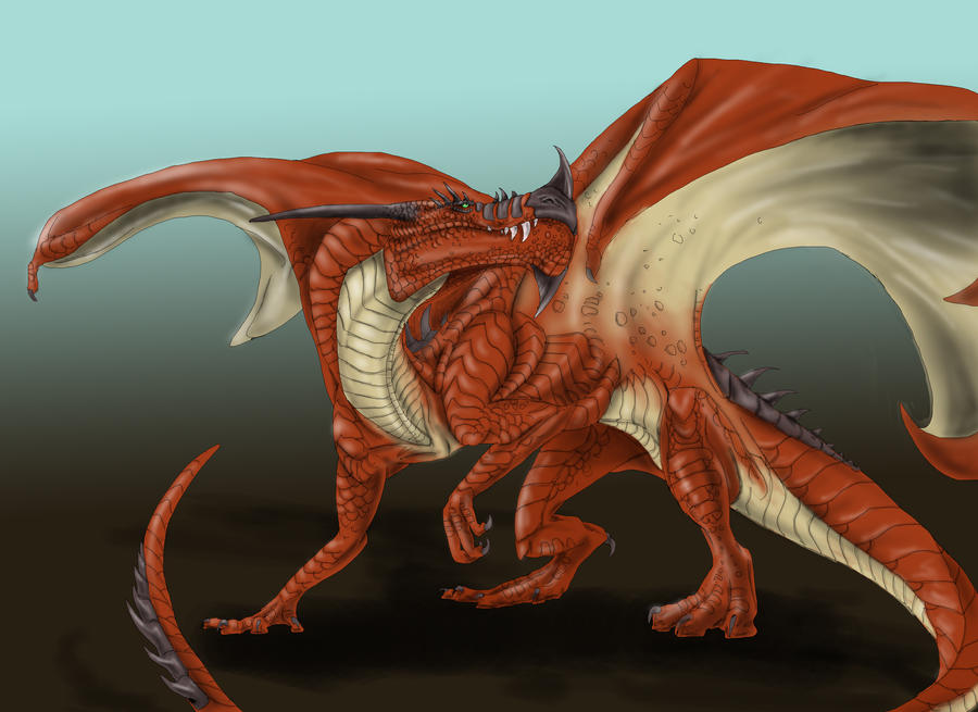 Commission: ~ClayD7 Dragon sketch by quinnk