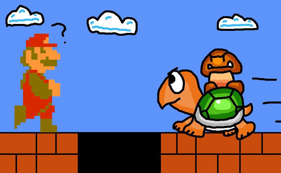 Koopa Troopa And Goomba Super Mario Bros By 4bitscomic On Deviantart