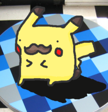 Pikachu mustache (smosh/pokemon) by thegamingdrawer