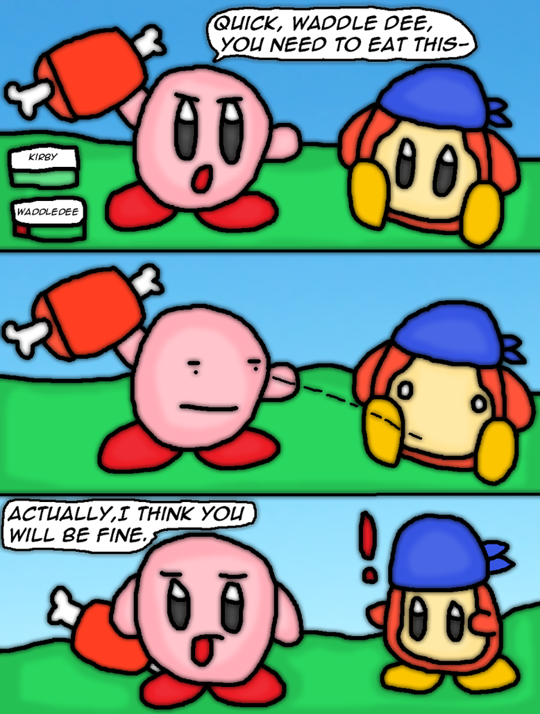 Meta Knight And Kirby Comics Its a waddle dee thing...