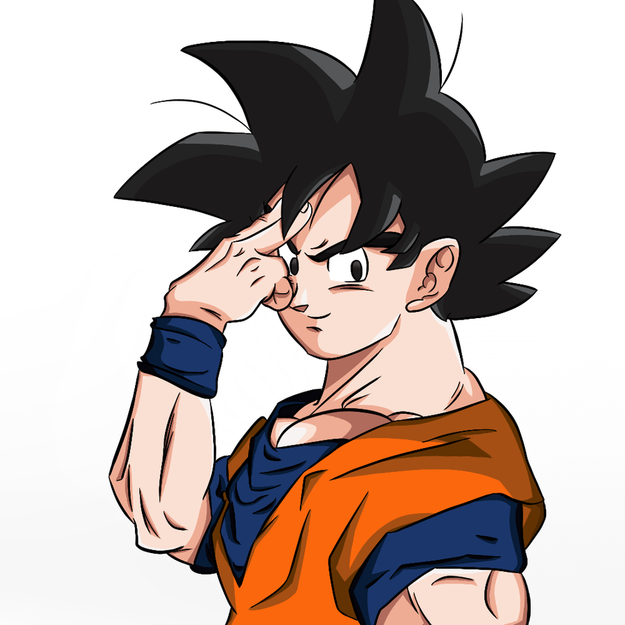 Goku -SPEEDPAINT INCLUDED- by thegamingdrawer